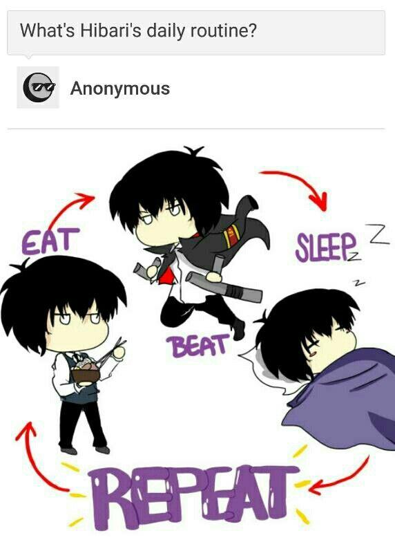 """Eat, Sleep, Beat and Repeat."" Kamikorosu!"