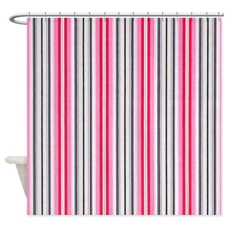 Pinkster Pinstripe Shower Curtain By Chevroncity Cafepress