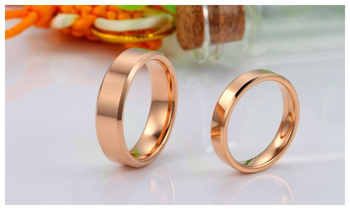 Rose Gold Matching Tungsten Wedding Bands Tungsten wedding bands