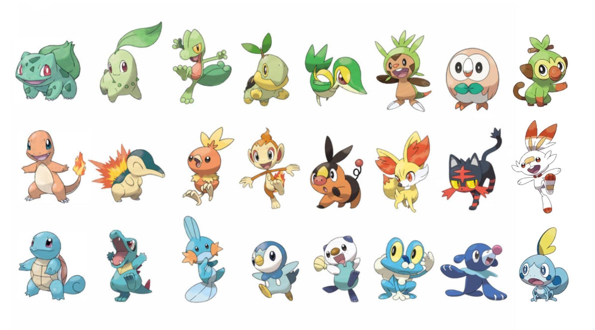 Every main series starter pokemon gaming pokemon
