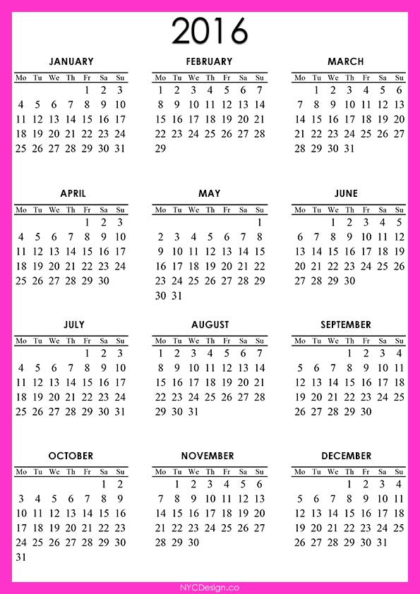 Calendar Printable Cute Calendar Printable  Free