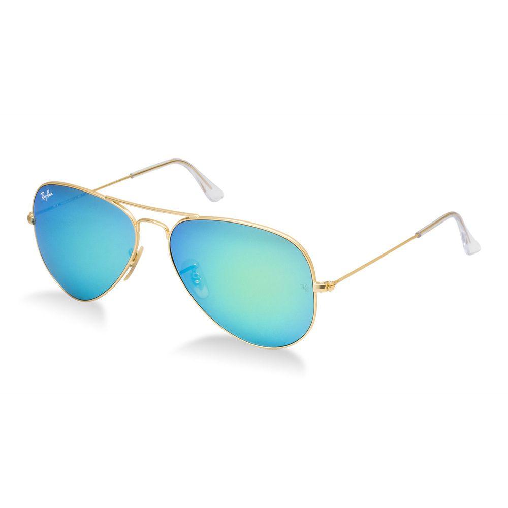 4a5ec5db184bc Ray-Ban Aviator RB3025 Unisex Gold Frame Green Flash Mirror Lens Sunglasses  by Ray-Ban
