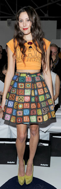 House of Holland Skirt...who says Granny Squares are old-fashioned!?