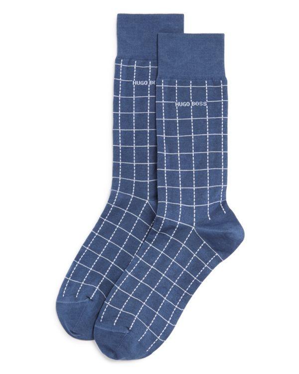 Boss Hugo Boss Check Design Mercerized Cotton Socks