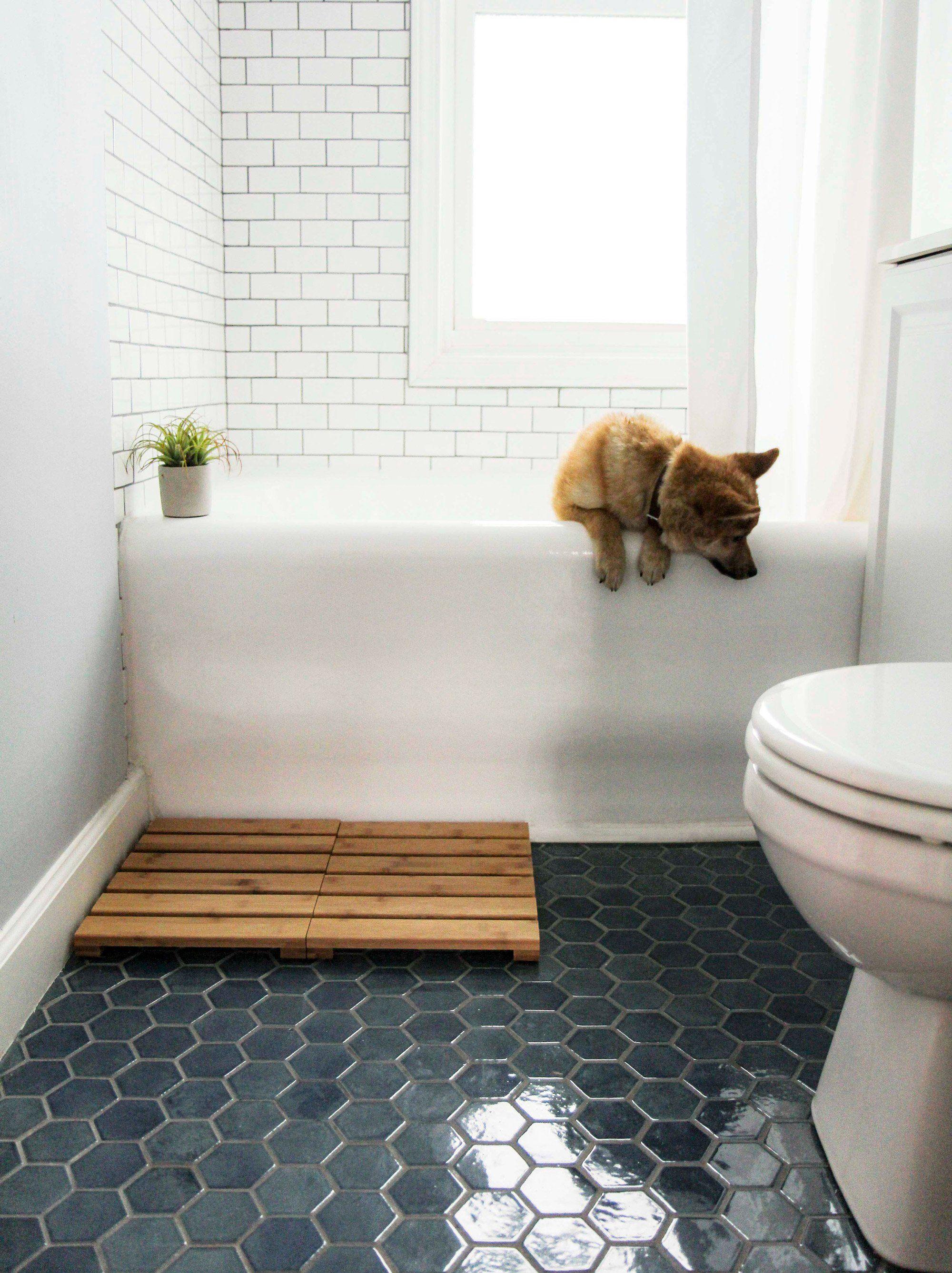 Small Hexagon 1013 Denim In 2021 Bathroom Tile Renovation Tile Renovation Tile Bathroom [ 2675 x 2000 Pixel ]