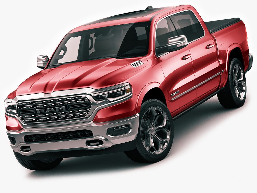 Ram 1500 limited 3d model, 3d pickup truck model, with