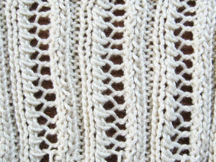 Eyelet Lace Ribbing Knitting Pattern | Lace knitting ...