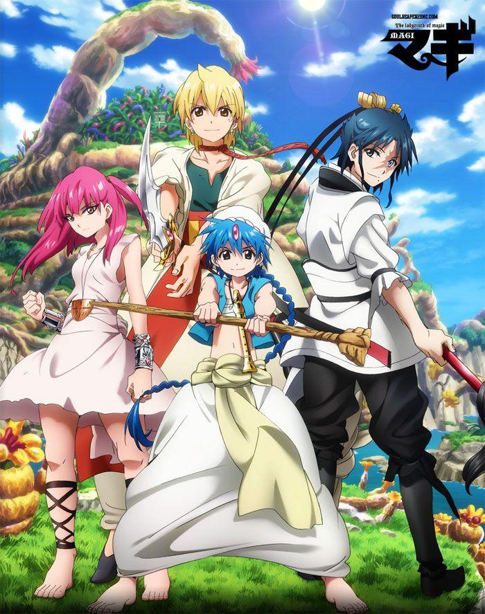 Magi The Labyrinth Of Magic Bluray Bd Aladdin Magi Anime