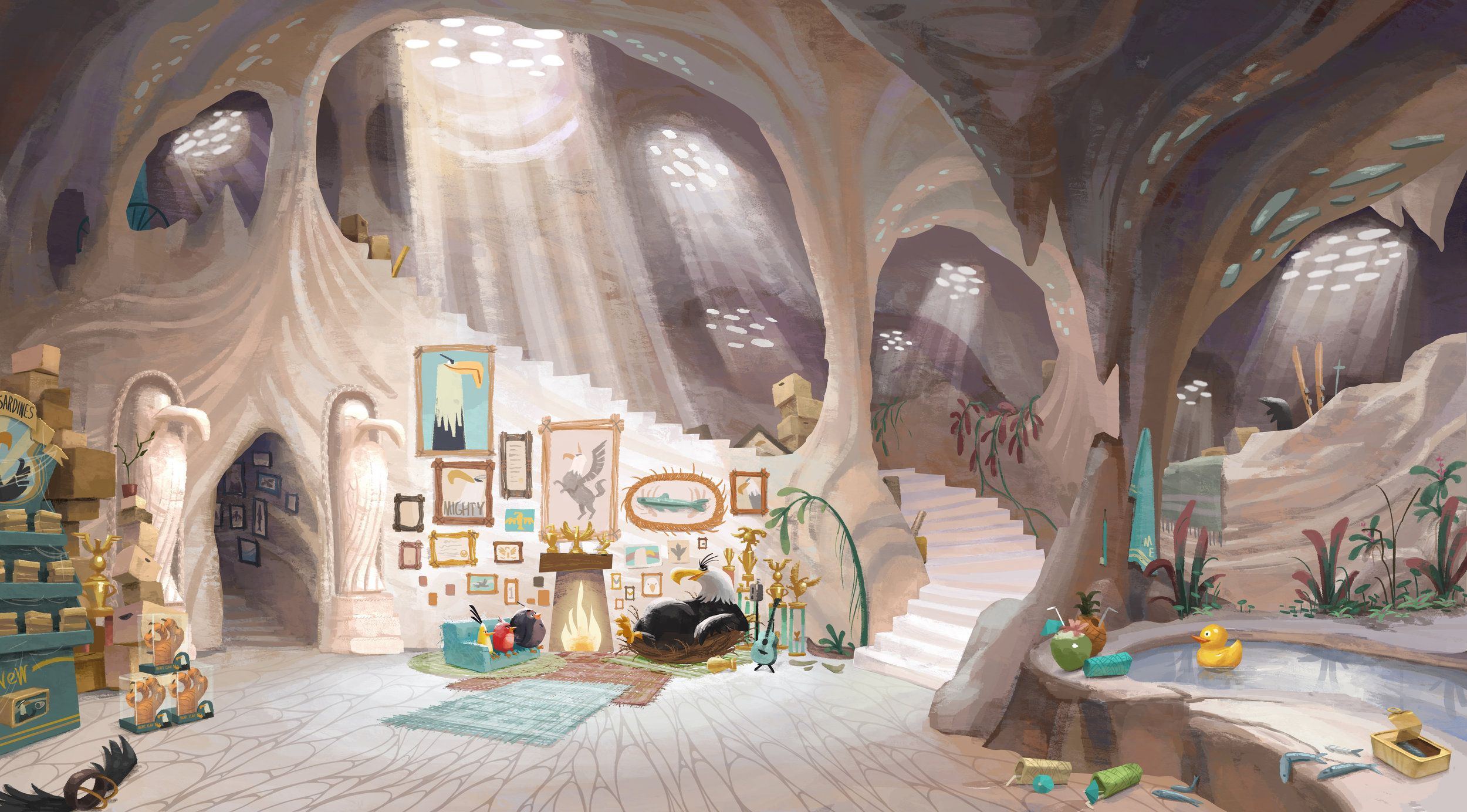 The Angry Birds Movie Concept Art - Eagle Cave Interior ...