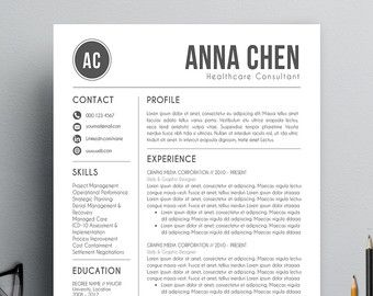 Modern Resume Templates Professional Resume Template Cover Letter Por Resumeguruboutique