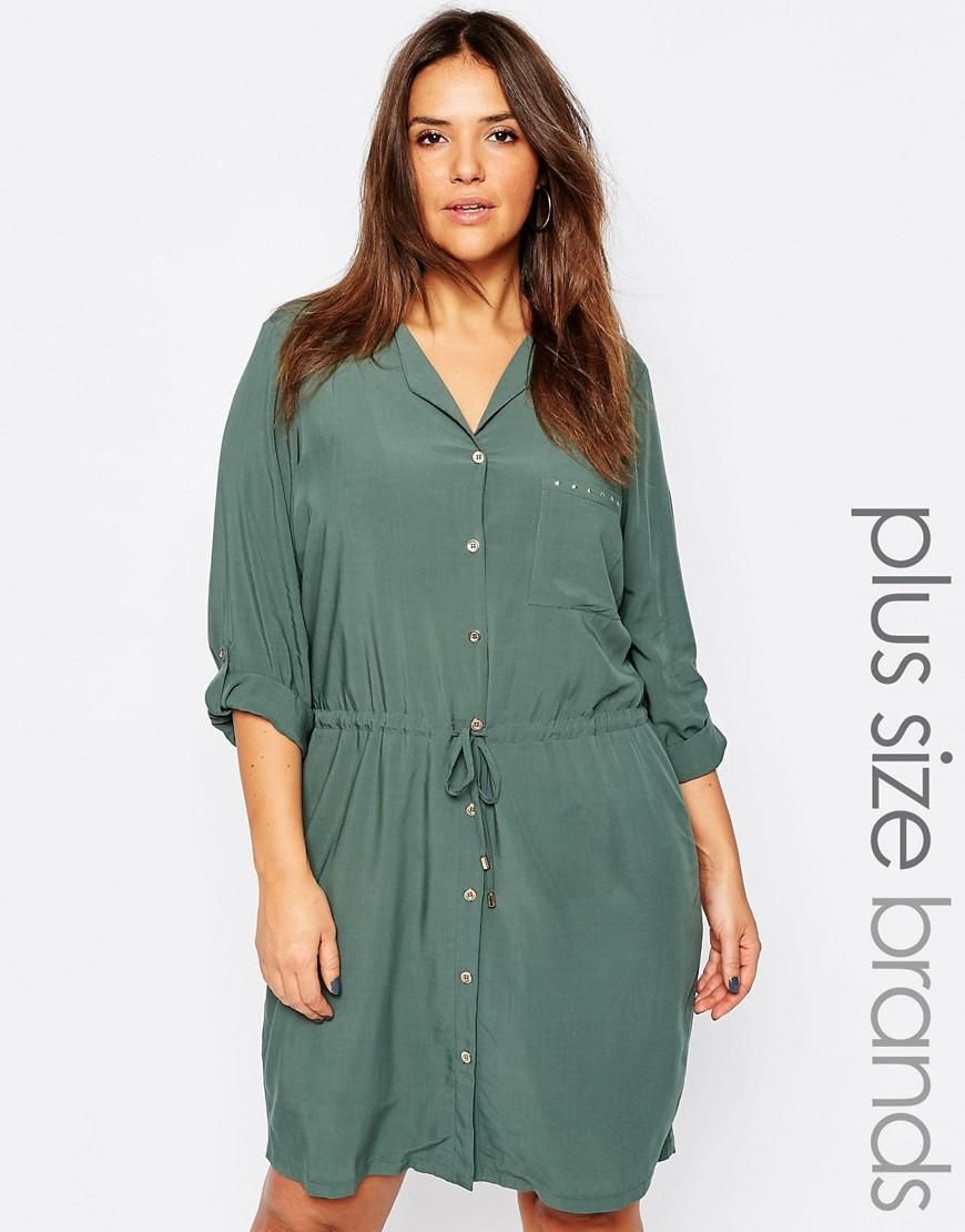 53d779a4a8d82 Junarose | Junarose Utility Shirt Dress at ASOS | My Style File ...
