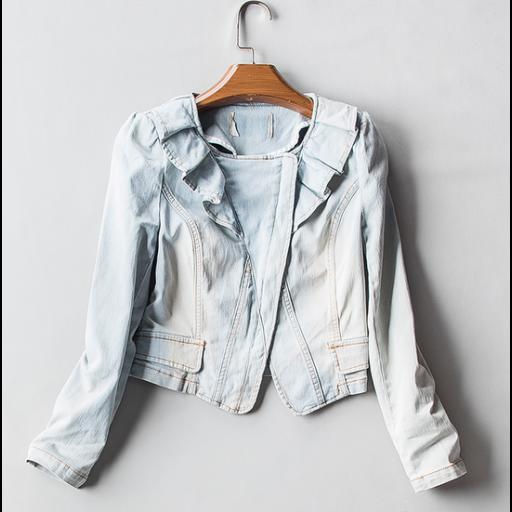 جاكيت جينز فاتح قصير Jackets Fashion Jean Jacket