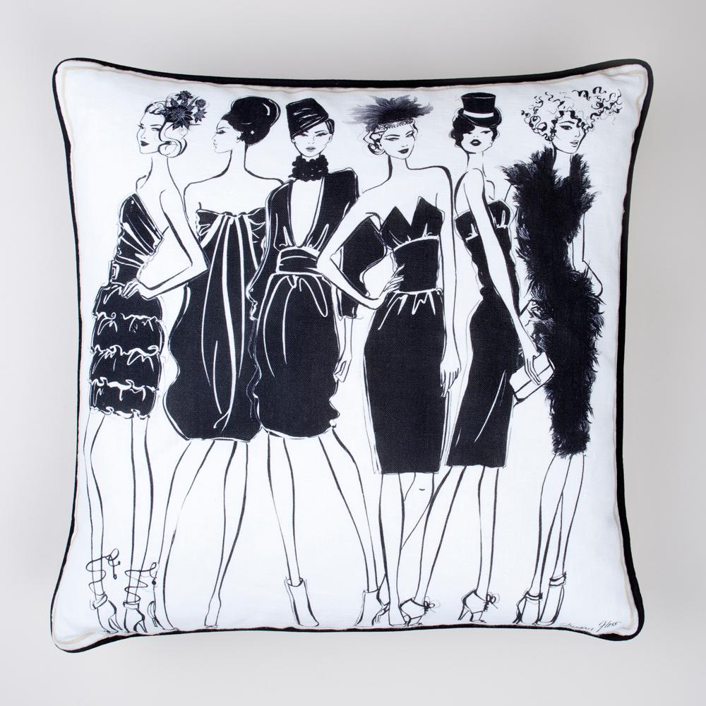 Megan Hess Illustrated Pillow