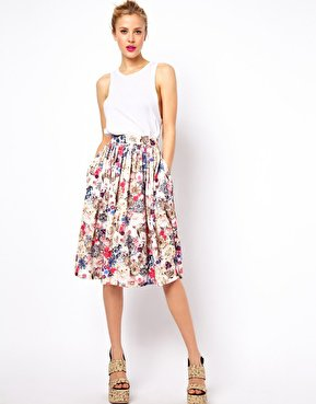 #asos                     #Skirt                    #ASOS #Midi #Skirt #Floral #Jewel #Print #asos.com  ASOS Midi Skirt in Floral Jewel Print at asos.com                             http://www.seapai.com/product.aspx?PID=1352094