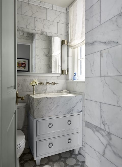 These spaces turn the humble bathroom into a luxurious style statement.