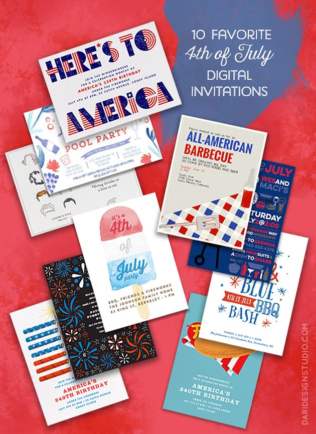 10 Favorite 4th of july Digital Cards -daridesignstudio.com