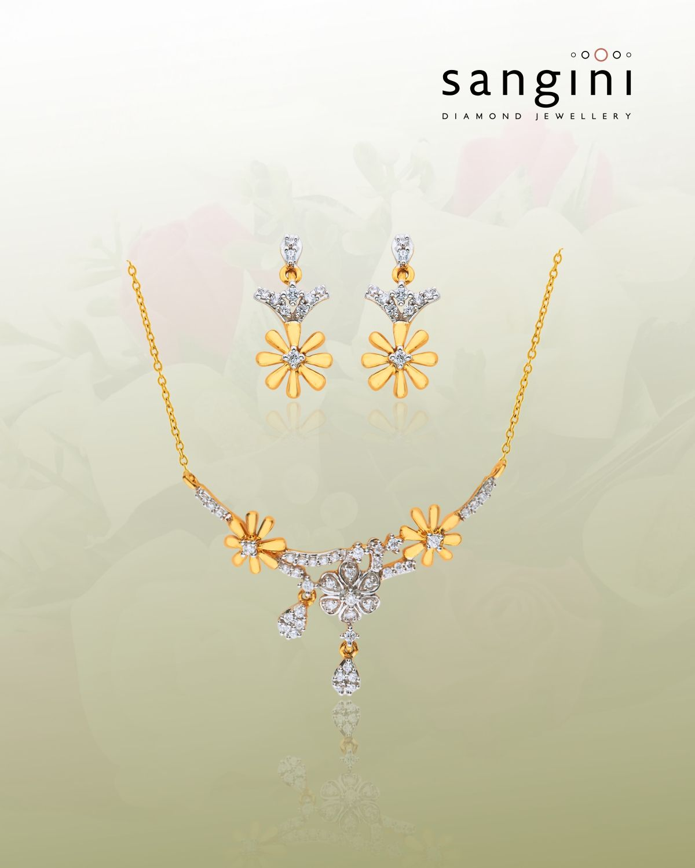 An exquisite tanmaniya set from sanginidiamondjewellery in an