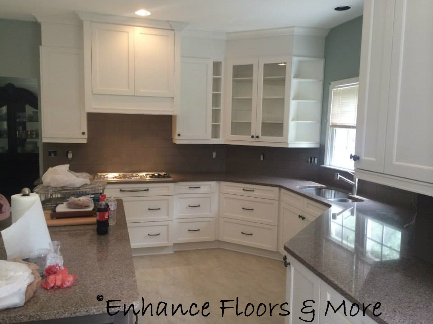 Alabaster White Kitchen Cabinets Recently Finished Kitchen Remodel Products Used Kitchencraft