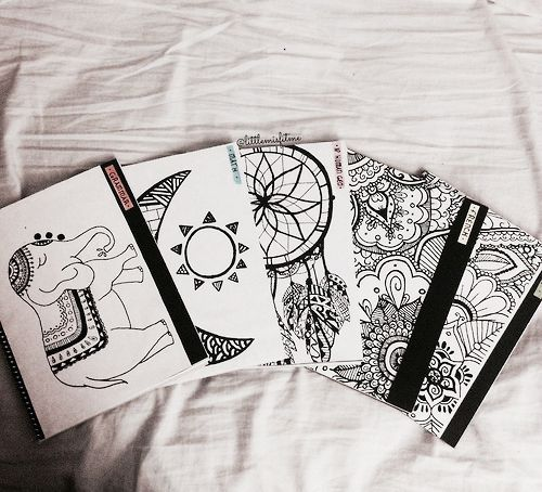 Draw Your Own Journal Covers Diy School Book Covers