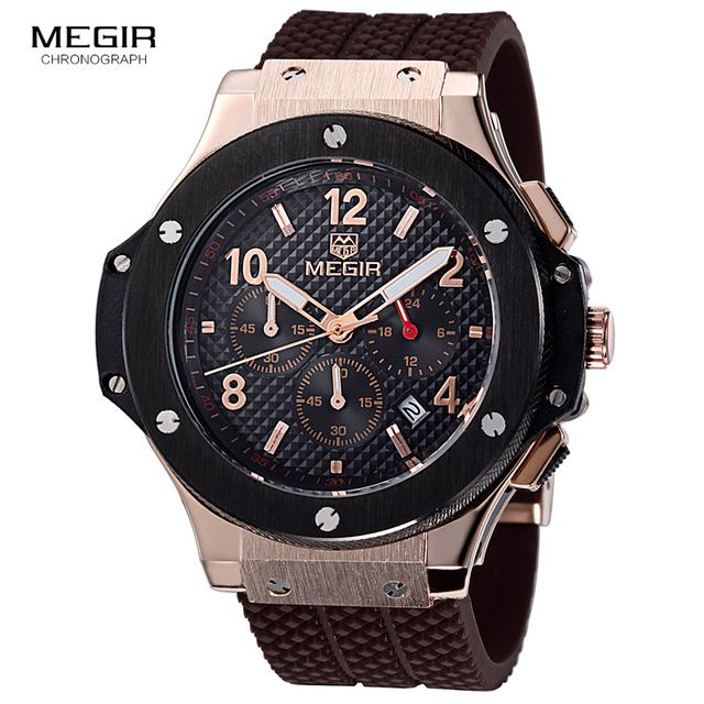 Buy now MEGIR hot casual quartz watches men fashion waterproof sport running watch for man chronograph cycling wristwatch for male 3002G just only $24.00 with free shipping worldwide  #menwatches Plese click on picture to see our special price for you