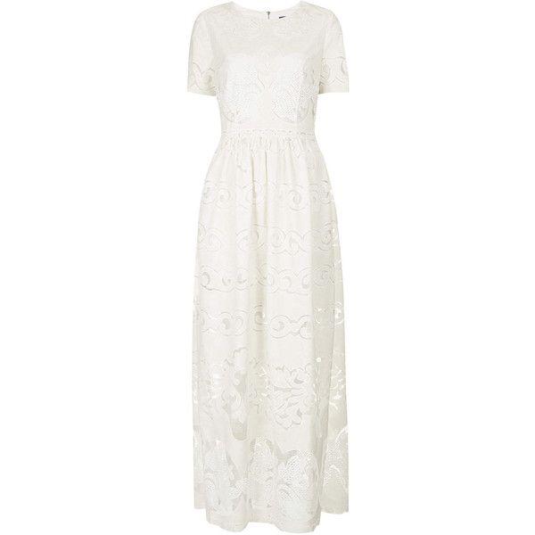 Lace placement maxi dress