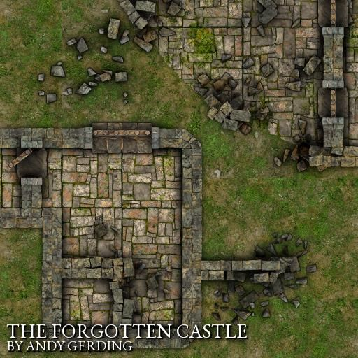 Castle ruins RPG map  Designed for Roll20, to create endless