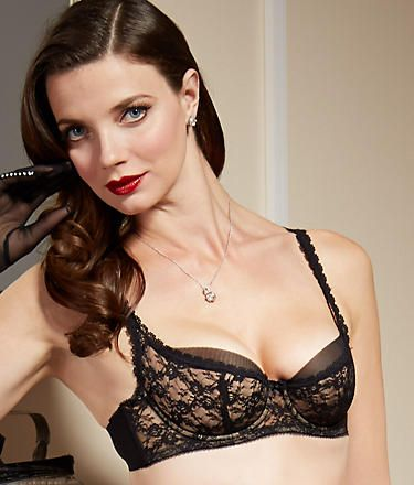 452091bb851 Dita Von Teese Sheer Witchery Balconette Bra