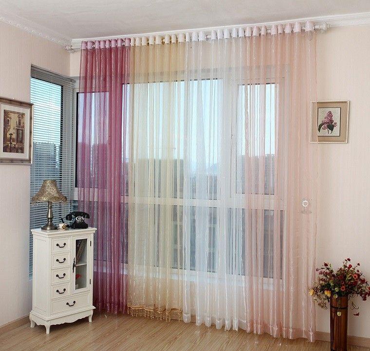 cortinas transparentes para el sal n moderno costura