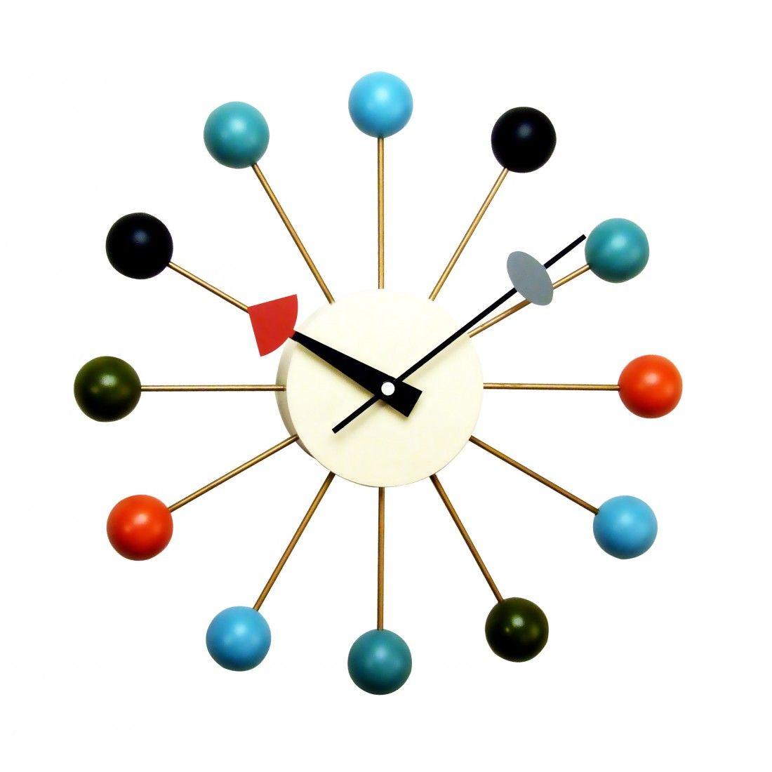 Classic Mid Century Ball Clock Nelson Ball Clock Wall Clock Clock