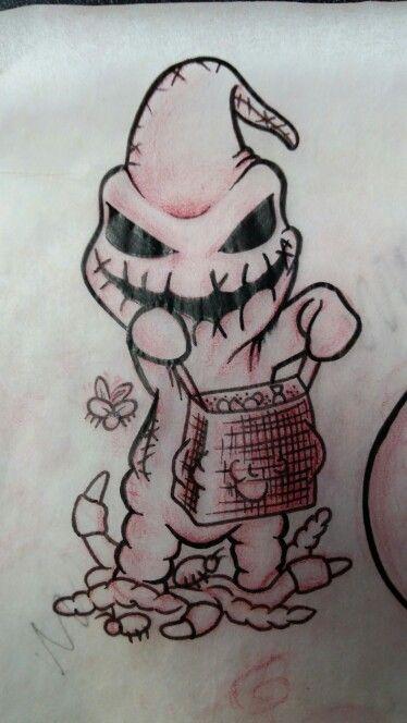 Cute Nightmare Before Christmas Drawings : nightmare, before, christmas, drawings, Chibi, Oogie, Boogie, Nightmare, Before, Christmas, Drawings,, Tattoo,, Tattoo