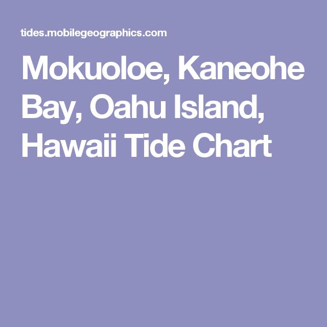 Mokuoloe Kaneohe Bay Oahu Island Hawaii Tide Chart Aloha
