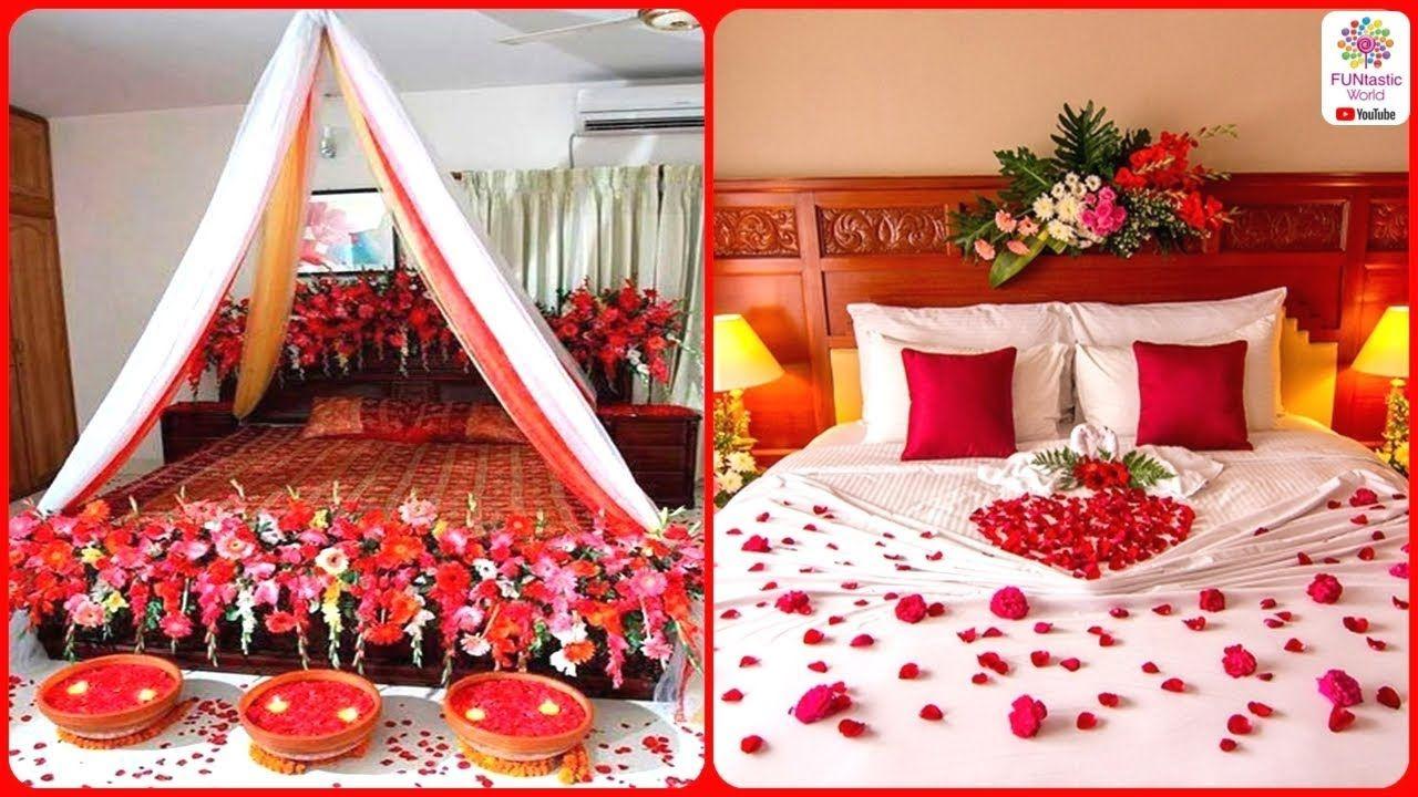 Romantic wedding marriage room decoration ideas bridal first night be also rh pinterest
