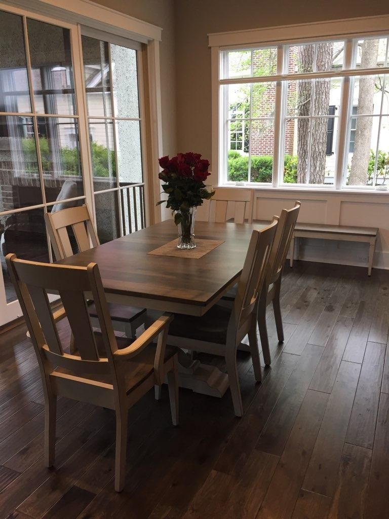 A Custom Dining Set Recently Delivered To Its New Home# Contact Me So We  Can Custom Make Yours! #walnutcreekfurniture #kylerufener #amish ...