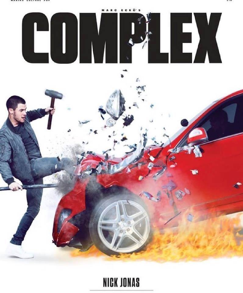 Nick Jonas on the cover of Complex.