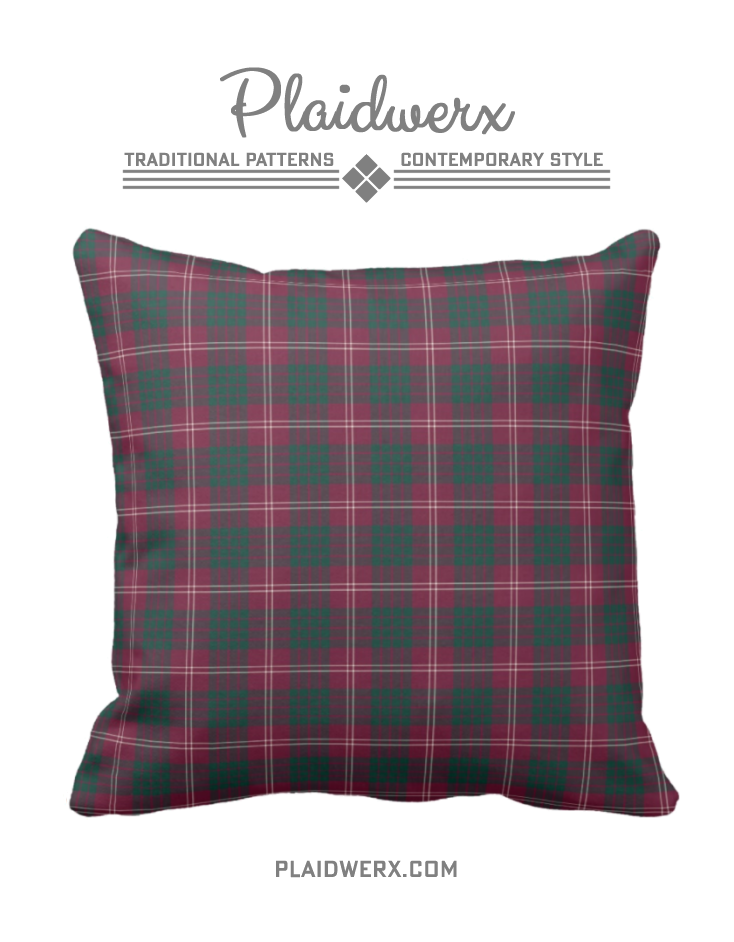 Clan Crawford Tartan Throw Pillow Choose From Three Fabric Types And Sizes Plaid Scottish Throwpillow Homedecor
