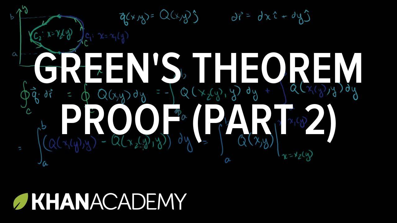 Green's theorem proof (part 2) | Multivariable Calculus | Khan