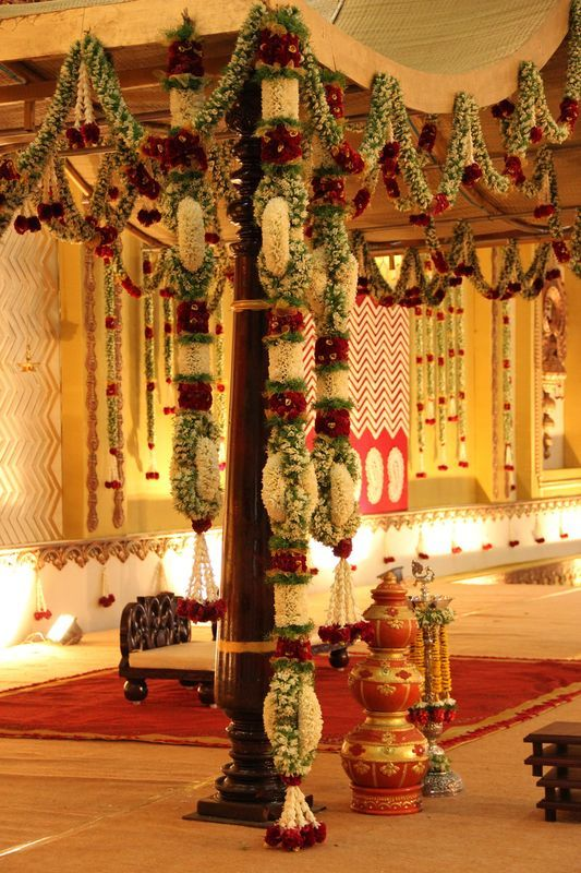Pin by asha latha on wedding mandaps pinterest for Arangetram stage decoration ideas