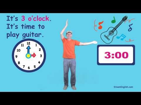 A fun video to introduce telling time! from Dream English http ...