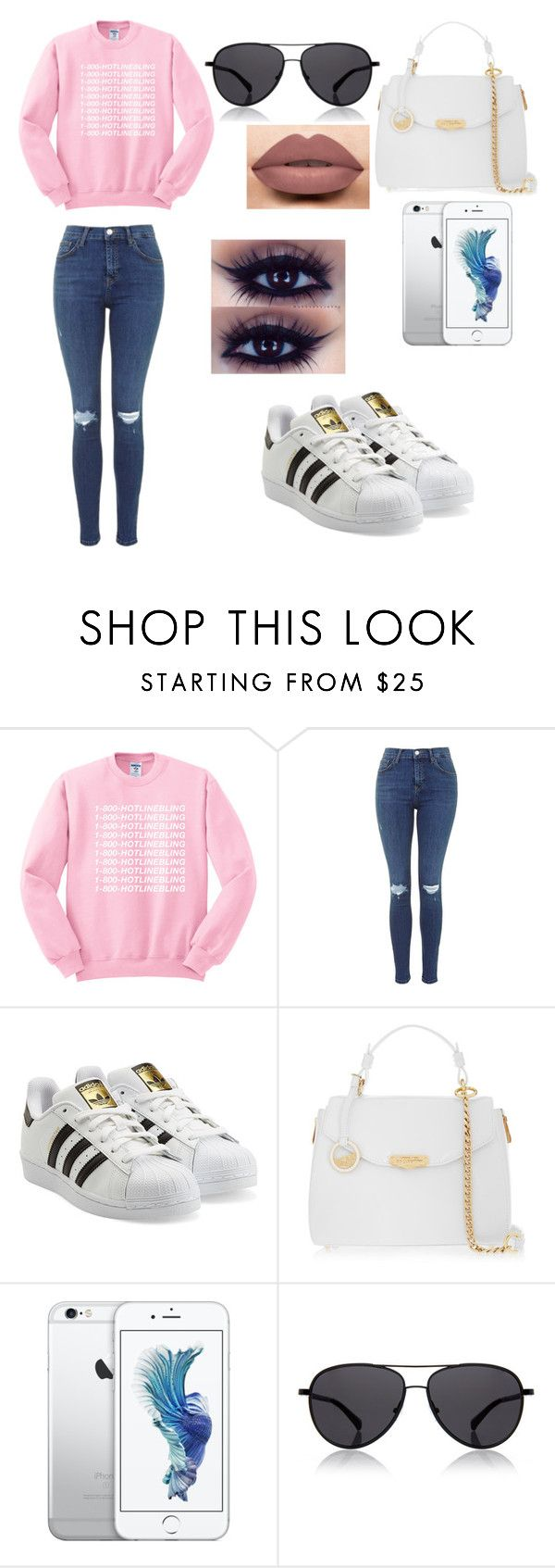 """""""Trap Queen"""" by junebug02 ❤ liked on Polyvore featuring adidas Originals, Versace, The Row and LASplash"""