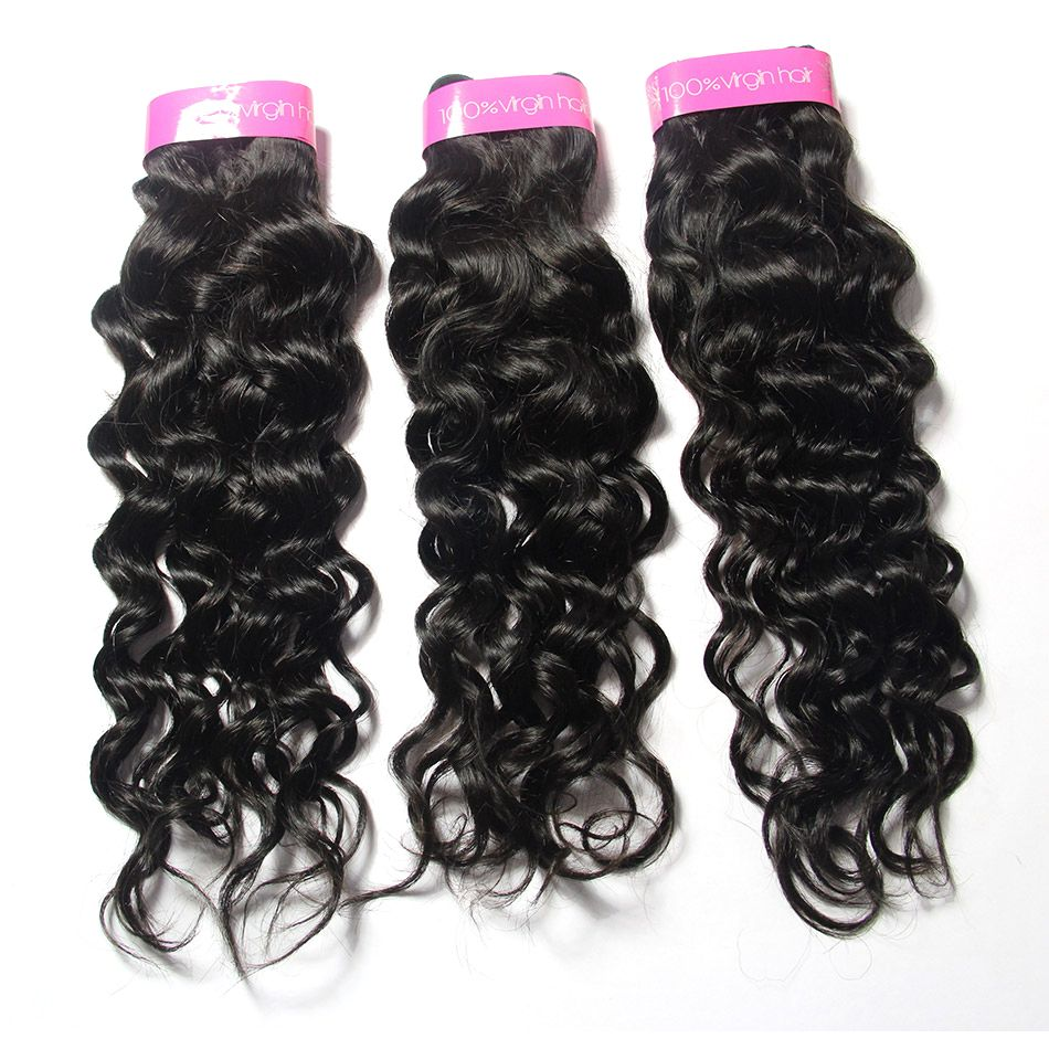 human hair weaves virgin hair bundles with closure