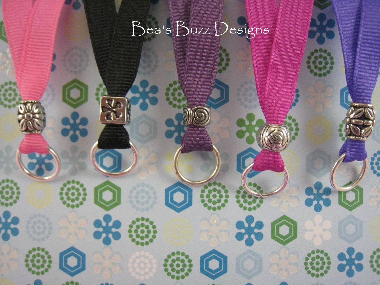 Ribbon Lanyards Nurse Jewelry Id Holder By Beasbuzzdesigns 6 00 Diy Lanyard Beaded Lanyards Nurse Jewelry