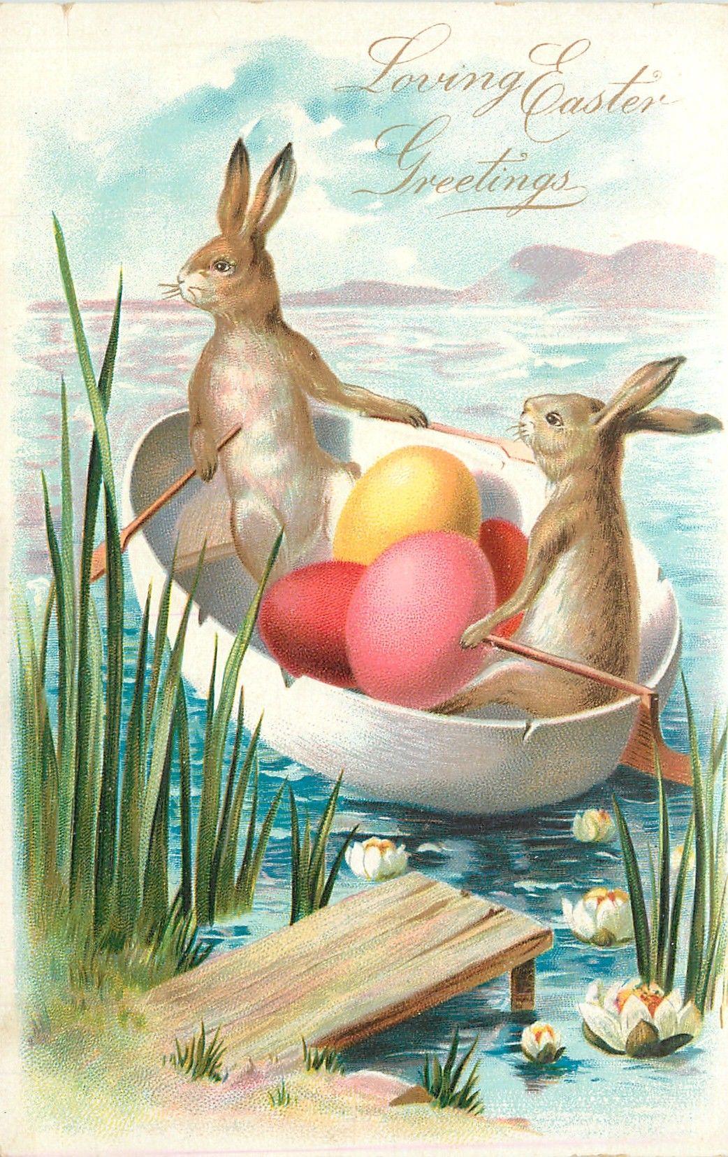 Сердечки своими, открытка кролик пасхальный