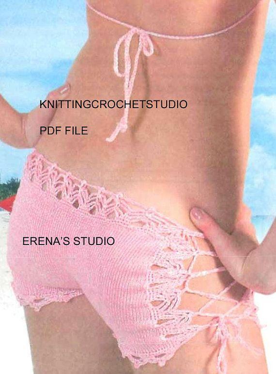Crochet Bikini short and top Pattern only in PDF Files | Annamae ...