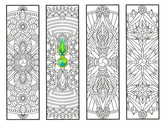 Coloring Bookmarks - Vajra Mandalas Page 2 - coloring for adults ...