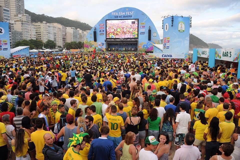Copacabana Rio De Janeiro World Cup 2014 World Cup Football