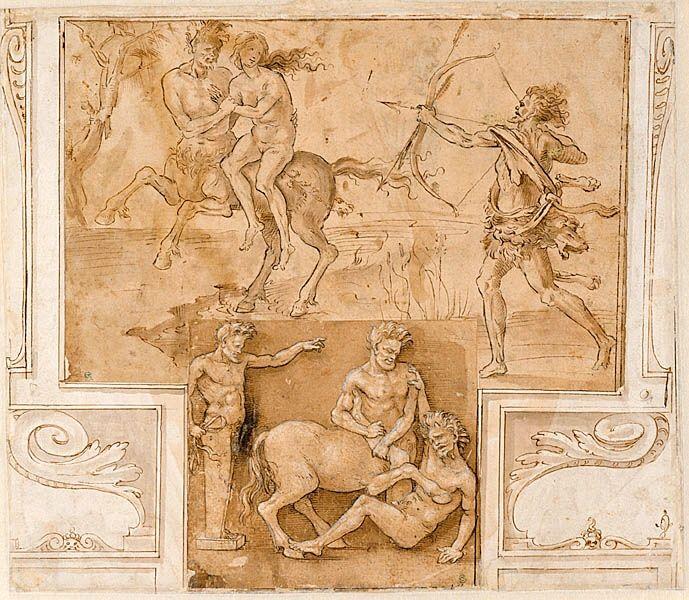Hercules, Nessus and Deianira [   ] by Filippino Lippi