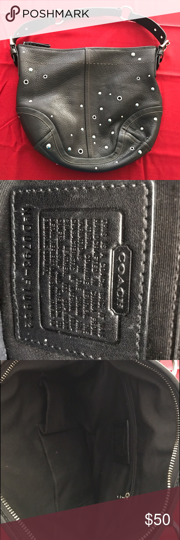 Coach bag 100% leather authentic Coach bag. Used a handful of times. Excellent condition! Coach Bags Hobos