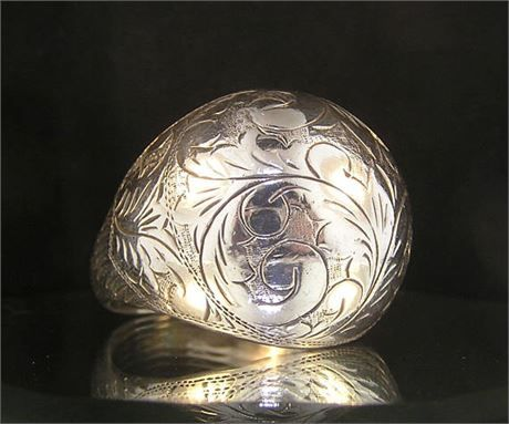 Metal: Sterling Silver  Stamped: .925 Sterling 11  Ring Size: 11.5