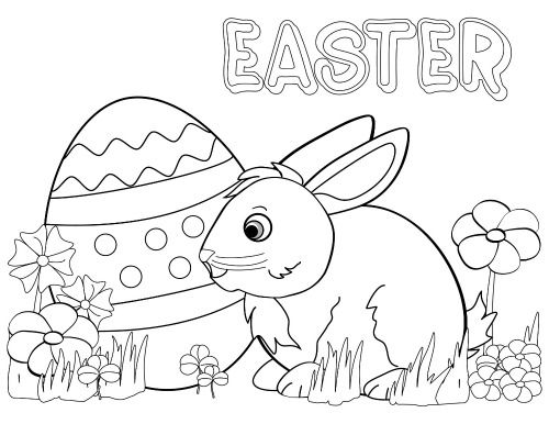 easter coloring pages for kindergarten - photo#28