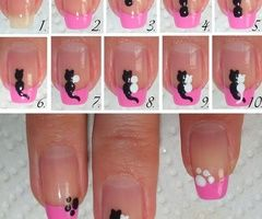 DIY - Cats in Love Nail Art Tutorial